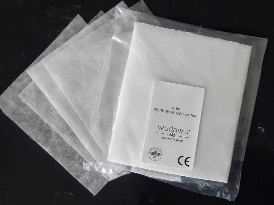 50 filtri monouso per mascherine di protezione