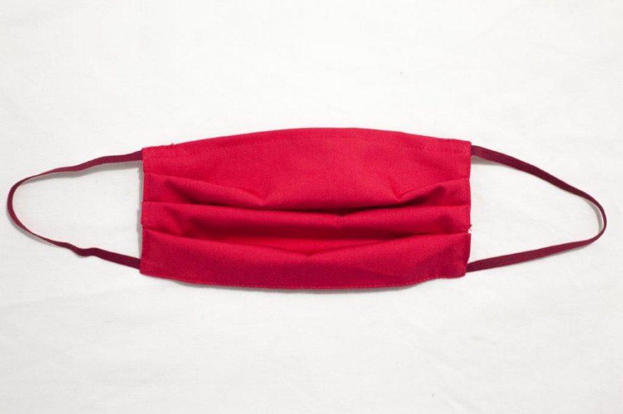 Mascherina cover in cotone rosso
