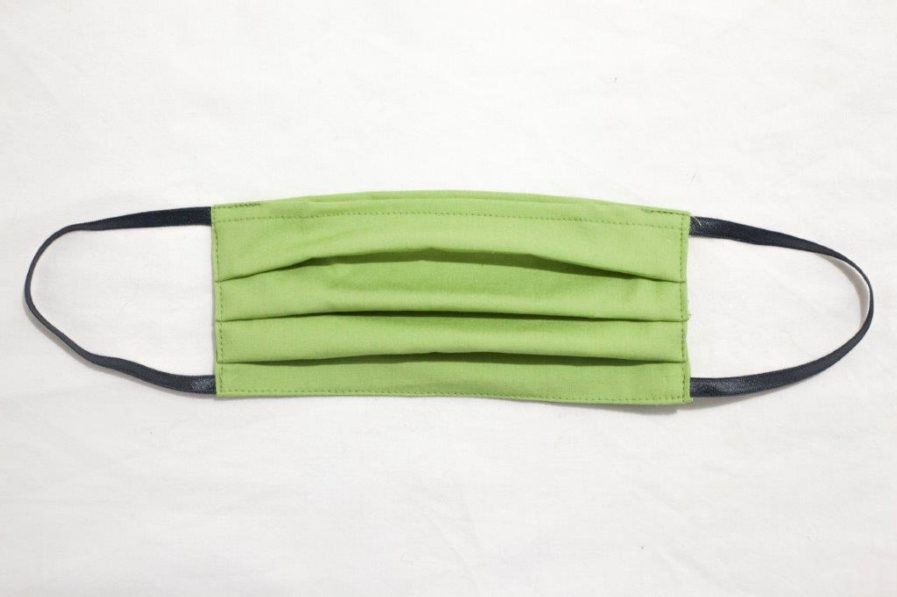Mascherina cover in cotone verde