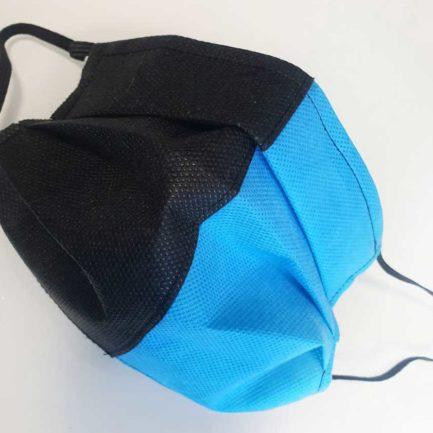 Mascherina di Protezione Individuale TNT colorato Nero Azzurra