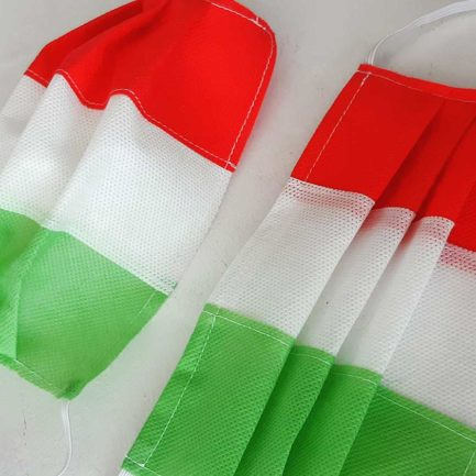 Mascherina di Protezione Individuale TNT colorato TRICOLORE