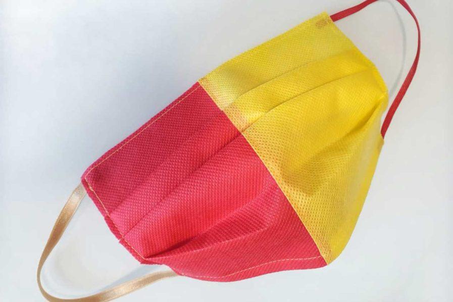 Mascherina di Protezione Individuale TNT colorato Giallorossa